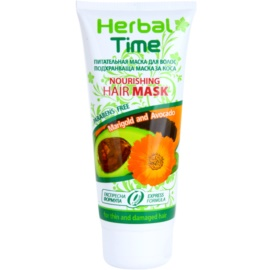 Herbal Time Marigold and Avocado nährende Haarmaske  200 ml