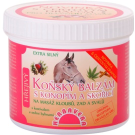 Herbavera Body Massage balsam koński z konopiami i cynamonem  500 ml