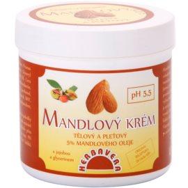 Herbavera Body mandlový hydratační krém na tělo a obličej  250 ml