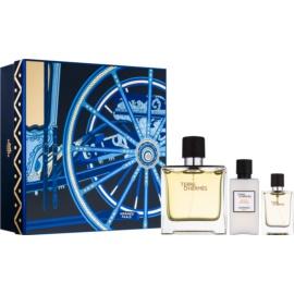 Hermès Terre d'Hermès zestaw upominkowy XVII. perfumy 75 ml + perfumy 12,5 ml + balsam po goleniu 40 ml