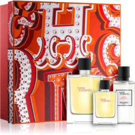 Hermès Terre d'Hermès set cadou XVII.  Parfum 75 ml + Parfum 12,5 ml + After Shave Balsam 40 ml