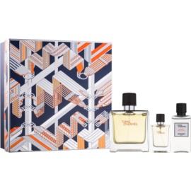 Hermès Terre D'Hermes coffret cadeau XX.  parfum 75 ml + 12,5 ml + baume après-rasage 40 ml