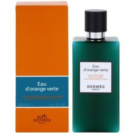 Hermès Eau d'Orange Verte Lapte de corp unisex 200 ml