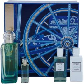 Hermès Un Jardin Sur Le Nil darilni set VII. toaletna voda 100 ml + toaletna voda 7,5 ml + gel za prhanje 40 ml + losjon za telo 40 ml