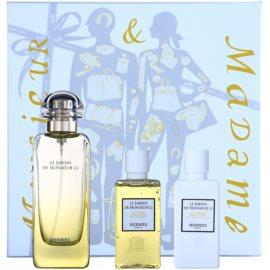 Hermès Le Jardin De Monsieur Li coffret II. Eau de Toilette 100 ml + leite corporal 40 ml + gel de duche 40 ml