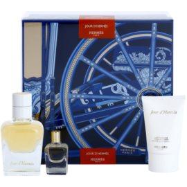 Hermès Jour d´Hermes zestaw upominkowy IV.  woda perfumowana 50 ml + woda perfumowana 7,5 ml + mleczko do ciała 30 ml