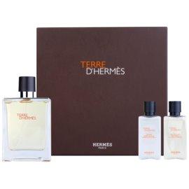 Hermès Terre d'Hermès 2012 coffret cadeau I. eau de toilette 100 ml + baume après-rasage 40 ml + gel de douche 40 ml