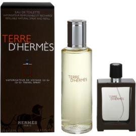 Hermès Terre d'Hermès ajándékszett XVI.   utántölthető toalettvíz 30 ml + toalettvíz utántöltő 125 ml