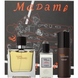 Hermès Terre d'Hermès zestaw upominkowy XVIII.  perfumy 75 ml + woda po goleniu 40 ml + pianka do golenia 50 ml
