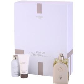 Hermès Voyage d´Hermes darilni set I. toaletna voda 100 ml + gel za prhanje 30 ml + losjon za telo 30 ml