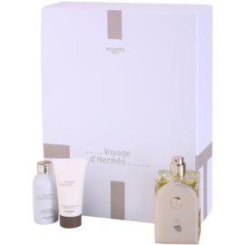 Hermès Voyage d'Hermès Gift Set I.  Eau De Toilette 100 ml + Shower Gel 30 ml + Body Milk 30 ml