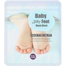 Holika Holika Baby Silky Foot освежаващи чорапи с хидратиращ ефект  2 x 25 мл.