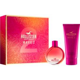 Hollister Wave 2 confezione regalo I  eau de parfum 100 ml + crema corpo 200 ml