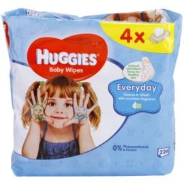 Huggies Everyday čisticí ubrousky na obličej a ruce  224 ks