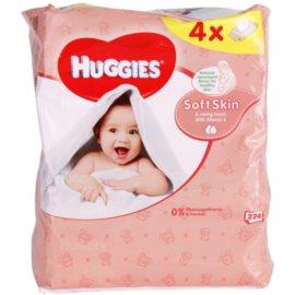 Huggies Soft Skin čisticí ubrousky s vitamínem E  224 ks