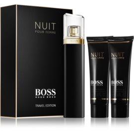 Hugo Boss Boss Nuit lote de regalo I. eau de parfum 75 ml + leche corporal 50 ml + gel de ducha 50 ml
