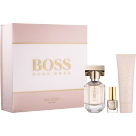 Hugo Boss Boss The Scent set cadou VI.  Eau de Parfum 30 ml + Crema de corp 50 ml + lac de unghii 4,5 ml