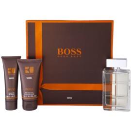 Hugo Boss Boss Orange Man dárková sada VIII. toaletní voda 100 ml + balzám po holení 75 ml + sprchový gel 50 ml