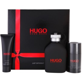 Hugo Boss Hugo Just Different lote de regalo VII.  eau de toilette 125 ml + deo barra 75 ml + gel de ducha 50 ml