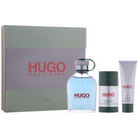 Hugo Boss Hugo Man zestaw upominkowy XI.  woda toaletowa 125 ml + żel pod prysznic 50 ml + dezodorant w sztyfcie 75 ml