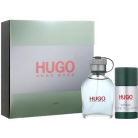 Hugo Boss Hugo Man zestaw upominkowy XIX.  woda toaletowa 75 ml + dezodorant w sztyfcie 75 ml