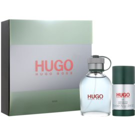 Hugo Boss Hugo lote de regalo XIX.  eau de toilette 75 ml + deo barra 75 ml