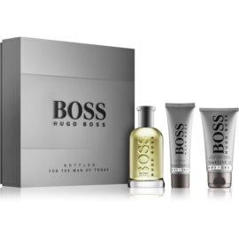 Hugo Boss Boss Bottled подаръчен комплект III. тоалетна вода 100 ml + балсам след бръснене 75 ml + душ гел 50 ml