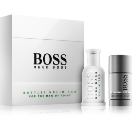 Hugo Boss Boss Bottled Unlimited lote de regalo II.  eau de toilette 100 ml + deo barra 75 ml