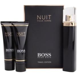 Hugo Boss Boss Nuit set cadou I. Eau de Parfum 75 ml + Lotiune de corp 50 ml + Gel de dus 50 ml