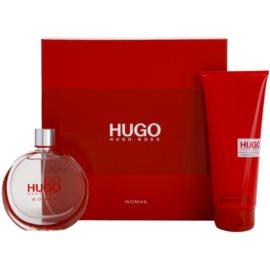 Hugo Boss Hugo Woman coffret II. Eau de Parfum 75 ml + leite corporal 200 ml