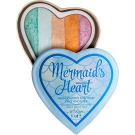 I Heart Revolution Mermaids Heart osvetljevalec za oči in lica  10 g