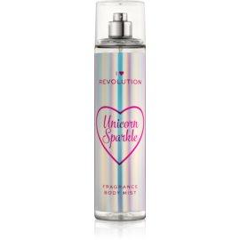 I Heart Revolution Body Mist osvežujoče pršilo za telo za ženske z vonjem Unicorn Sparkle 236 ml