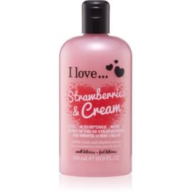 I love... Strawberries & Cream krema za prhanje in kopanje  500 ml