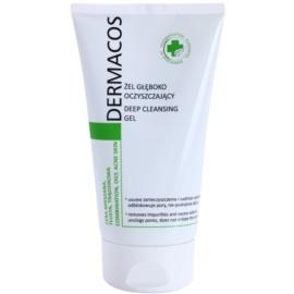 Ideepharm Dermacos Combination Oily Acne Skin gel de curatare profunda pentru piele lucioasa cu pori dilatati  150 ml