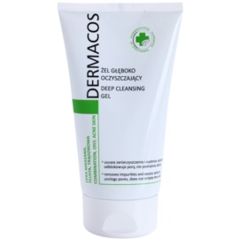 Ideepharm Dermacos Combination Oily Acne Skin глибоко очищуючий гель проти блиску шкіри та розширених пор  150 мл