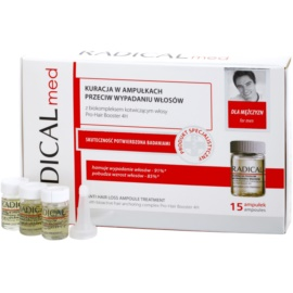 Ideepharm Radical Med Anti Hair Loss sérum de cuidado contra queda capilar para homens  15x5 ml