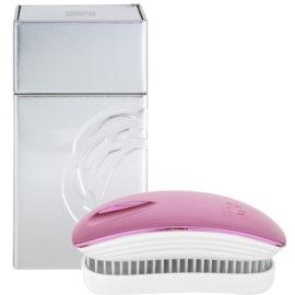 ikoo Metallic Pocket Hair Brush Rose White