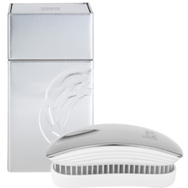 ikoo Metallic Pocket Haarbürste Oyster White
