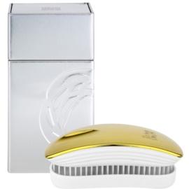 ikoo Metallic Pocket Hair Brush Soleil White