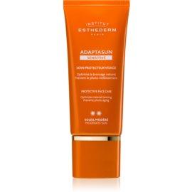 Institut Esthederm Adaptasun Sensitive schützende Gesichtscreme mittlerer UV-Schutz 50 ml