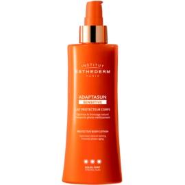 Institut Esthederm Adaptasun Sensitive Beschermende Zonnebrandmelk met Hoge UV Bescherming   200 ml