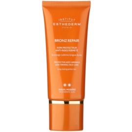 Institut Esthederm Bronz Repair učvrstitvena krema proti gubam za obraz s srednjo UV zaščito  50 ml