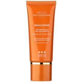 Institut Esthederm Bronz Repair укрепващ крем за лице против бръчки с висока UV защита  50 мл.