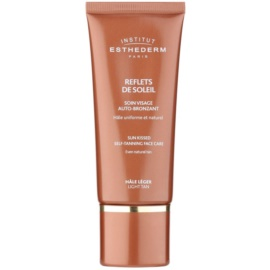 Institut Esthederm Sun Kissed creme autobronzeador para rosto tom Light Tan 50 ml