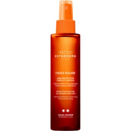 Institut Esthederm Sun Care Sonnenöl für Körper und Haare mittlerer UV-Schutz  150 ml