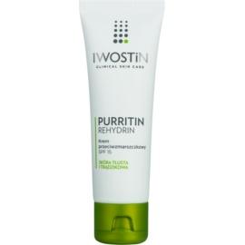 Iwostin Purritin Rehydrin Anti-Wrinkle Cream For Oily Acne - Prone Skin SPF 15 40 ml