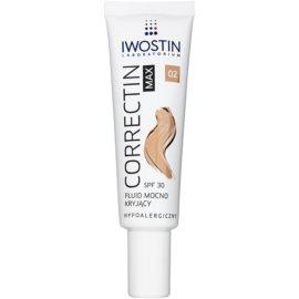 Iwostin Max Correctin Fluid pentru acoperirea pentru piele sensibilă SPF30 culoare Natural 30 ml
