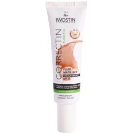 Iwostin Purritin Correctin fluido para reduzir o acne da pele a longo prazo SPF30 tom Light 30 ml
