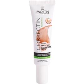 Iwostin Purritin Correctin fluide matifiant couverture longue tenue pour peaux acnéiques SPF 30 teinte Warm Beige 30 ml