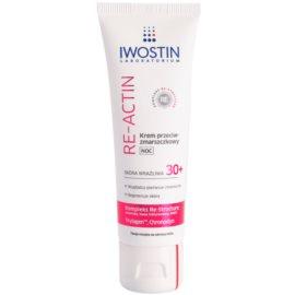 Iwostin Re-Actin нощен крем против бръчки  за чувствителна кожа на лицето  40 мл.
